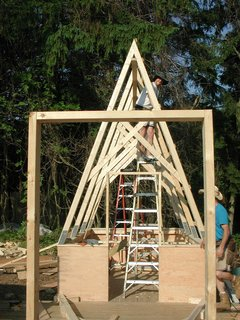 Swamp Thing - Photo 5 of 17 - Shown here, construction under way. One hut up, four to go.