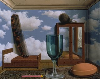 Les valeurs personnelles (Personal Values) (1952), painted by René Magritte. From the SFMoMA Collection; purchased through a gift of Phyllis Wattis. On display as part of the SFMoMA's 75 Years of Looking Forward: The Anniversary Show exhibit, on view through January 16, 2011.