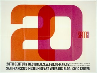 20th Century Design U.S.A. exhibition poster (1960), designer unknown. From the SFMoMA Collection. On display as part of the SFMoMA's 75 Years of Looking Forward: Dispatches from the Archives exhibit, on view through July 6, 2010.