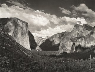Clouds, from Tunnel Overlook, Yosemite National Park, California (ca. 1934), photographed by Ansel Adams. From the SFMoMA Collection; gift of Mrs. Walter A. Haas. On display as part of the SFMoMA's 75 Years of Looking Forward: The View From Here exhibit, on view through June 27, 2010.