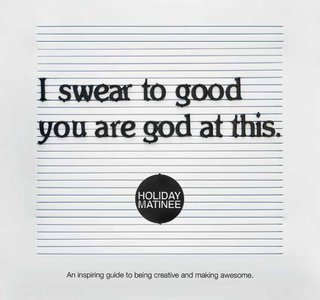Holiday Matinee founder Dave Brown's book, I Swear to Good You are God at This, is on sale February 18.