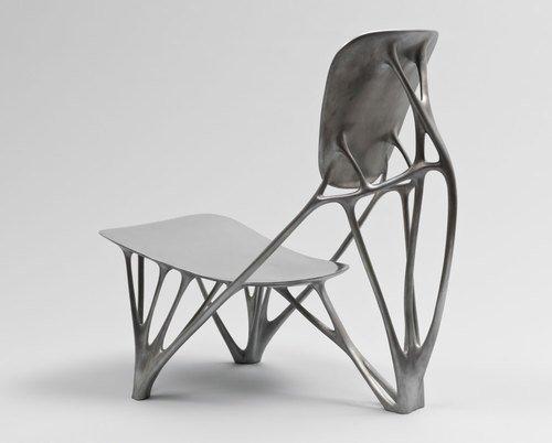 Bone Chair. 2006, by Joris Laarman. Aluminum. Manufactured by Joris Laarman Studio, The Netherlands. The Museum of Modern Art.