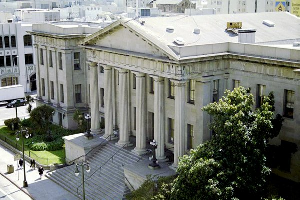 Here's a view of the Old Mint today. You can see the San Francisco Chronicle building to the south (just across Mission St.) and to the north is a recently-renovated outdoor space called Mint Plaza. An interior courtyard in the Old Mint will be open to the public free of cost, and serve as an internal lung for the building's ventilation system.