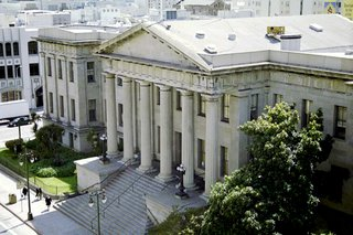 Greening San Francisco's Old Mint - Photo 4 of 7 - Here's a view of the Old Mint today. You can see the San Francisco Chronicle building to the south (just across Mission St.) and to the north is a recently-renovated outdoor space called Mint Plaza. An interior courtyard in the Old Mint will be open to the public free of cost, and serve as an internal lung for the building's ventilation system.