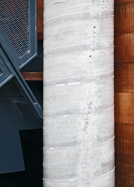 Concrete pillars are key in the event of a tidal wave.