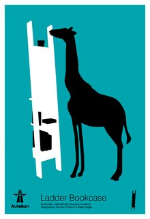 One of Autoban's graphic whimsies, where silhouetted animals interact with furniture.