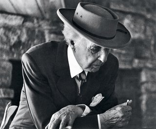 10 Ways to Celebrate Frank Lloyd Wright's 150th Birthday - Photo 6 of 11 - Frank Lloyd Wright at the Reisley House in Usonia, a cooperative housing development in Pleasantville, New York, 1952.