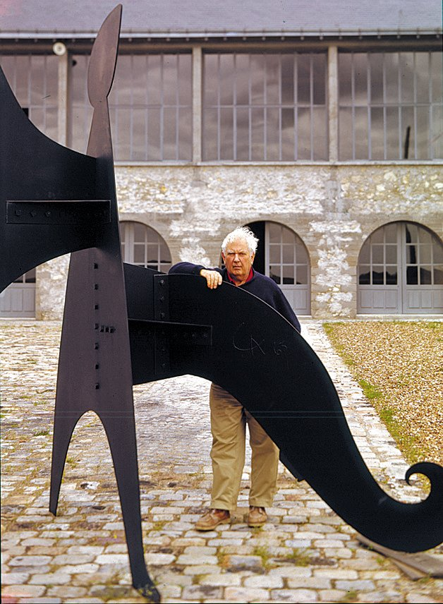 Guerrero captured Alexander Calder in front his studio in Sache, France.  Photo 8 of 8 in An Interview With Frank Lloyd Wright's Photographer Pedro E. Guerrero from Pedro E. Guerrero