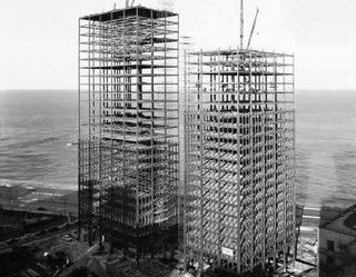 Harboe's Marks - Photo 3 of 4 - The Lake Shore Drive apartments, in the process of being built, circa 1950. Image courtesy Chicago History Museum.