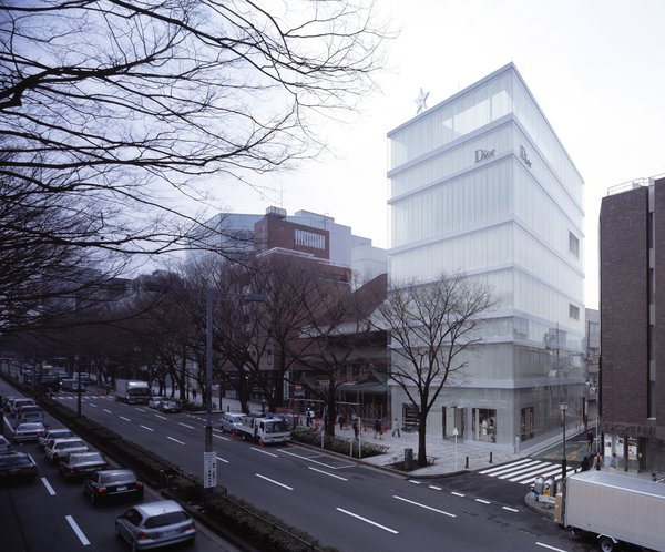 Perhaps a more ordered precursor for the New Museum in New York, this Dior shop in Tokyo from 2003 is a good example of SANAA's subtle shift in scale, color, and porousness.