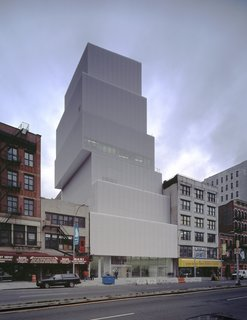 "2010 Pritzker: Sejima and Nishizawa - Photo 6 of 10 - The New Museum for Contemporary Art in New York resembles a haphazardly stacked set of boxes. It was at one point adorned with a rainbow-colored sign that read ""Hell, Yes."" That's roughly how I responded when I learned Sejima and Nishizawa won the Pritzker."