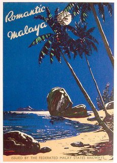 Friday Finds 4.2.2010 - Photo 3 of 4 - Travel poster of Malaya printed in the 30s, issued by the Federated Malay States Railways, Kuala Lumpur.