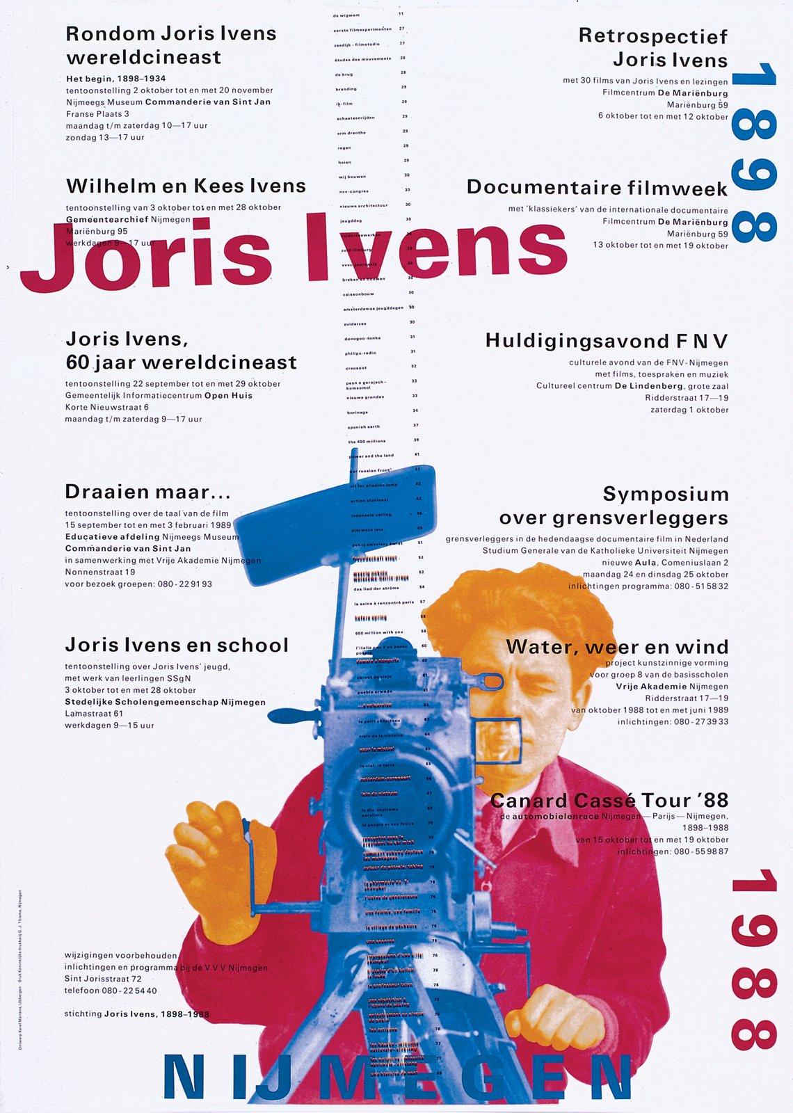 A poster for a film series celebrating Dutch documentary filmmaker Joris Ivens.  Photo 3 of 18 in Dutch Master