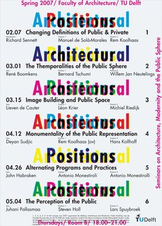 Dutch Master - Photo 15 of 21 - A poster for an architectural lecture series.