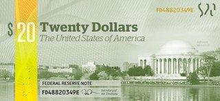 Designer Michael Tyznik's conception for a new $20 bill.