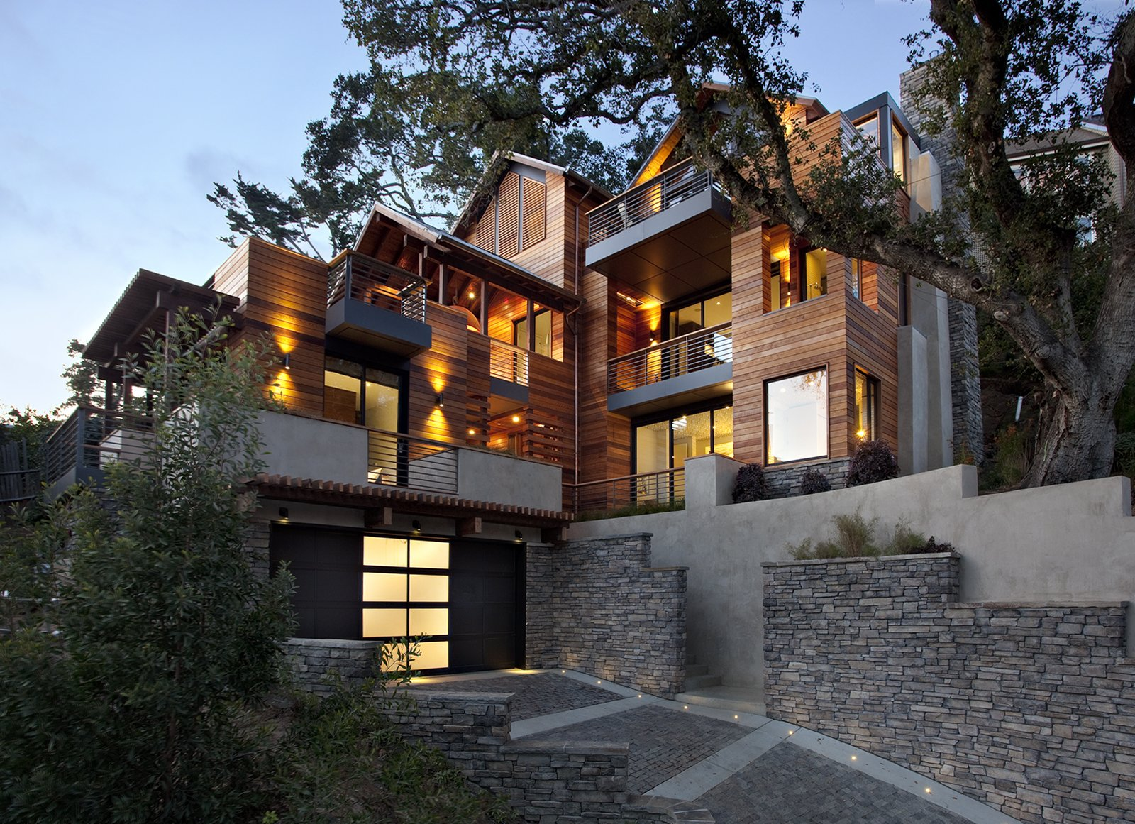 The Hillside Residence by Scott Lee of SB Architects in conjunction with Arcanum Architecture is in Mill Valley.