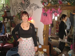 Scotland: Day 2 - Photo 1 of 11 - It was a rather cheery morning indeed as I popped in on Fleur Mackintosh and her vintage clothing and custom tailoring boutique, Godiva.