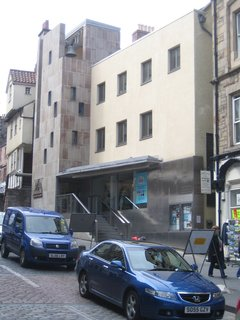 Scotland: Day 2 - Photo 7 of 11 - I passed by the Scottish Storytelling Project building by Malcolm Fraser on High Street today.