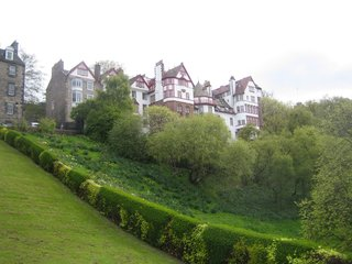 Scotland: Day 2 - Photo 11 of 11 - Looking up at Ramsay Gardens from below. Unlike anything in America.