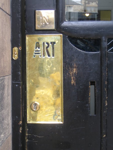 Mackintosh designed everything at the Glasgow School of Art including the font you see everywhere. I love it here on the main door to the building.