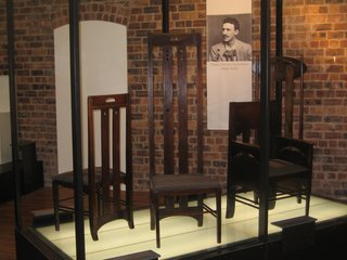 Scotland: Day 4 - Photo 5 of 11 - There is a little gallery of Mackintosh's furniture at the GSA. They have the largest collection in the world at over 200 pieces, but only a fraction of that are on display.