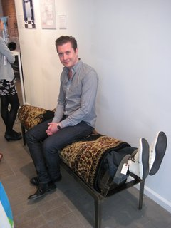 Kevin Carpet Bench by Will Robison. There are some folks in this world who find pleasure by being rolled up in a carpet, and there are some who seek it by sitting on them.