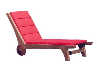 Motta named his Parati chaise after the historic Brazilian town, colonized by Portugal then imperialized by Brazil. The demo wood used in its construction renders each chaise slightly different.