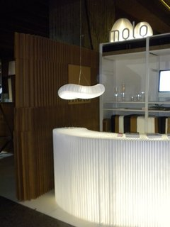 Soft by Molo - Photo 1 of 5 - At the Montreal International Interior Design Show, the Softwalls and Softblocks formed the Molo booth as well as the pathway and wall dividers in the sustainability section.