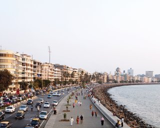 Mumbai, India - Photo 11 of 12 - Marine Drive, also known as the Queen's Necklace, is nearly two miles long, linking the tony South Mumbai to the northern suburbs. Its seafront position sees myriad Mumbai residents out for walks and fresh coconut vendors selling their goods.