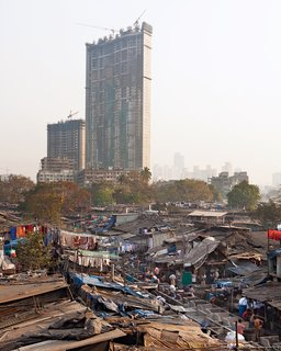 Mumbai, India - Photo 7 of 12 - The jaw-dropping enormity of Mumbai's slums—–home to nearly 55 percent of the city's population—–starkly juxtaposes with the emergence of new wealth and booming construction.