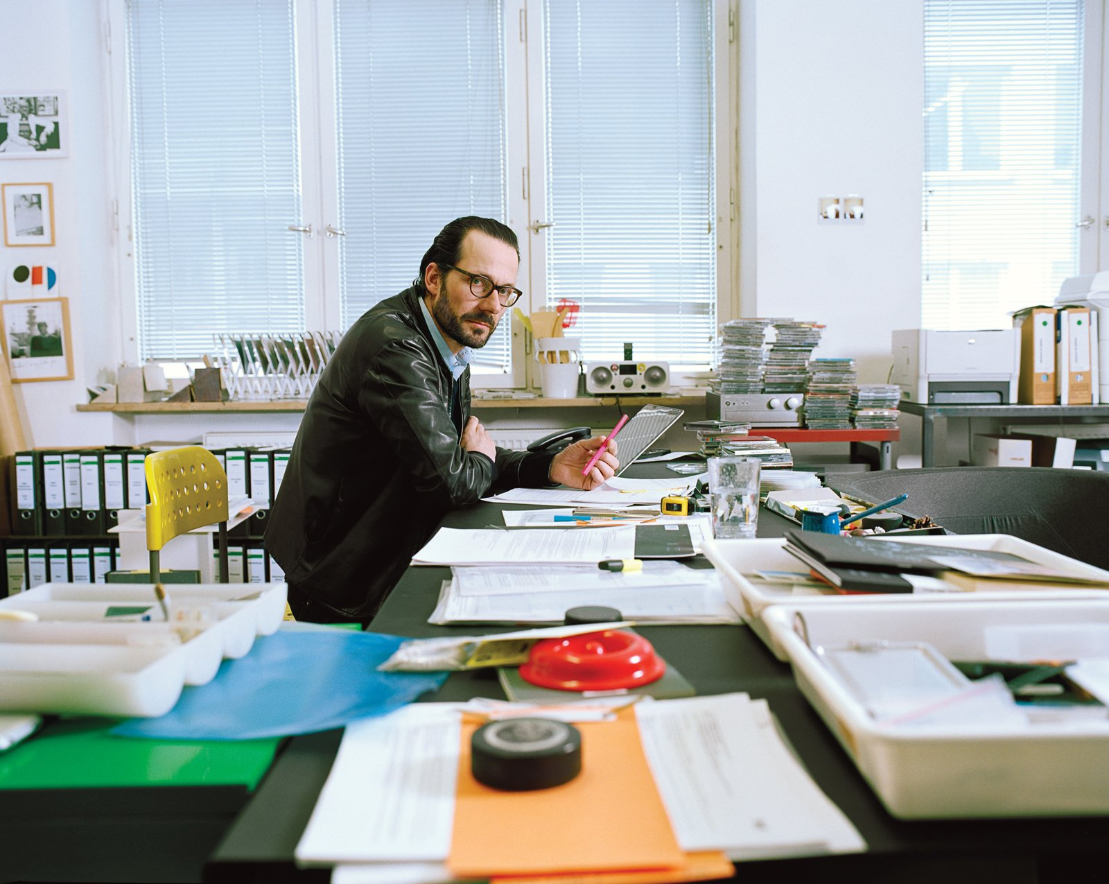 Industrial designer Konstantin Grcic in his Munich studio. Photo by Oliver Mark.  Photo 1 of 26 in Industrial Designer Focus: Konstantin Grcic