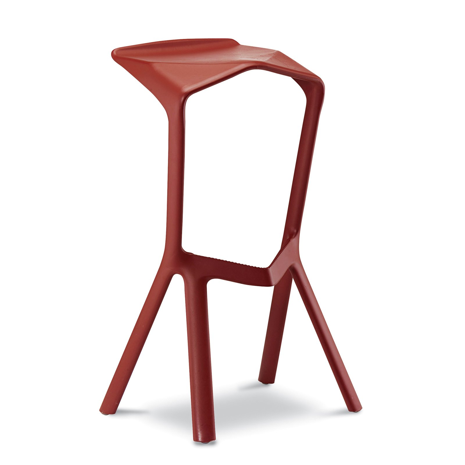 """Another seating win: the Miura barstool for Plank in 2005. Reinforced polypropylene / 18.5"""" W x 15.75"""" D x 32"""" H with 30.5"""" seat height.  Photo 4 of 26 in Industrial Designer Focus: Konstantin Grcic"""
