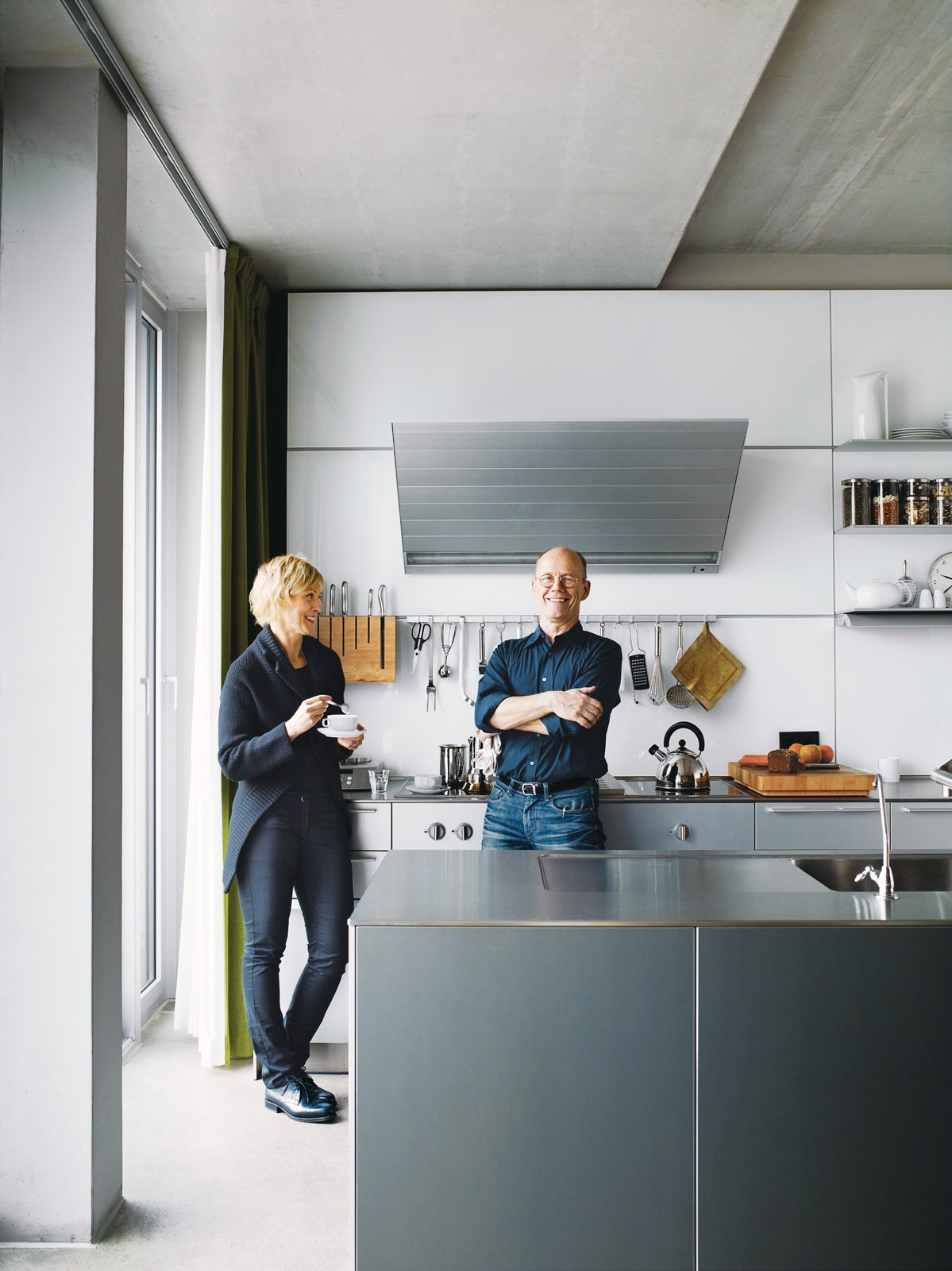 Spiekermann and Dulkinys agree that their house—the first they've built from the ground up—is definitely different. Tagged: Kitchen and Metal Counter.  Graphic Designers We Love by Aaron Britt from A Rational Approach