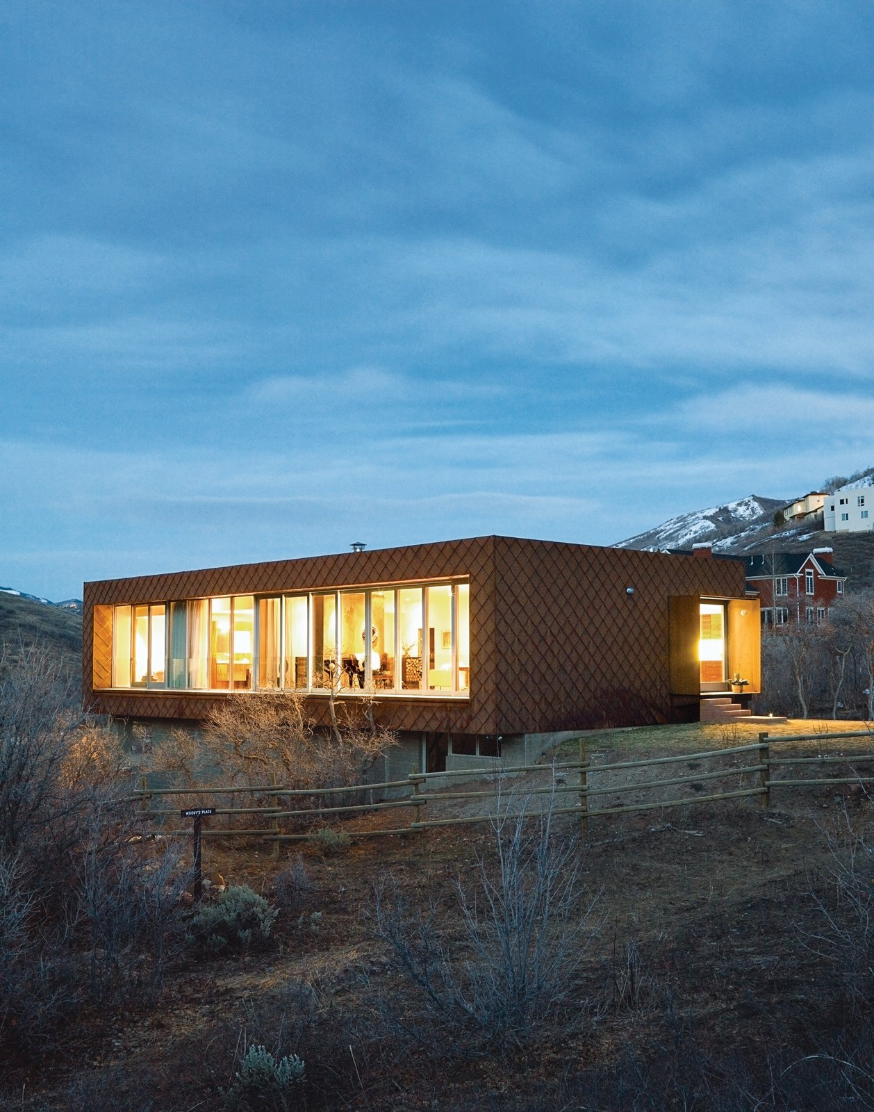 The first leed for homes rated house in utah dwell for Leed cabins