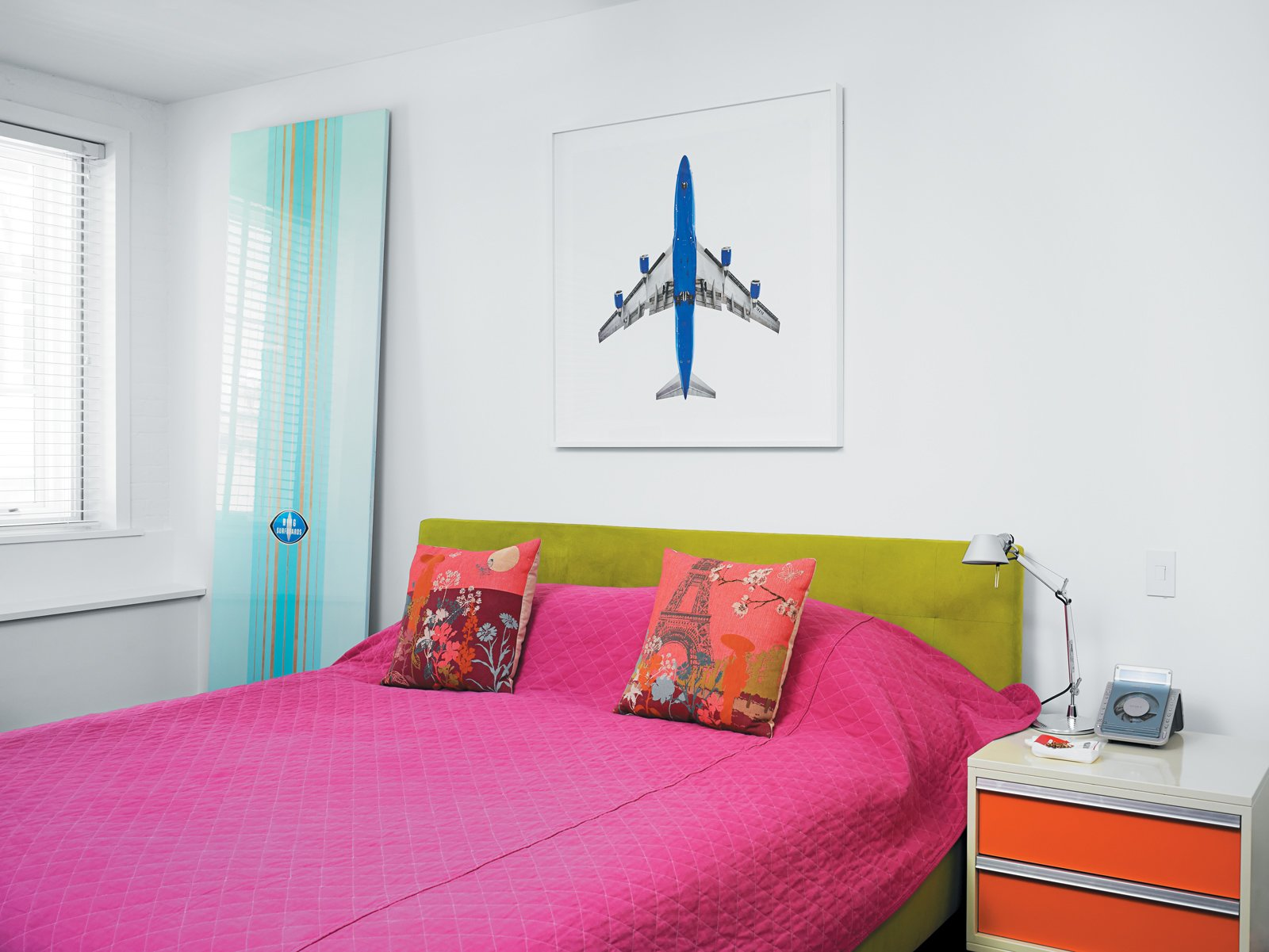 Artist Peter Dayton's glossy panels recall surfboards and reveal references to color-field masters like Kenneth Noland. Dine shows Dayton's work at the MaD Wainscott gallery he co-owns with business partner Scott Murphy. Tagged: Bedroom, Dresser, and Bed. Fine Dine-ing - Photo 12 of 12