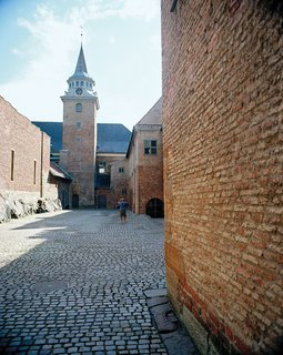The still-formidable 14th-century Akershus fortress, which presides over Oslo Fjord.