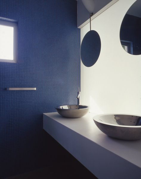 Here, the bathroom in the States Street Tandem house.