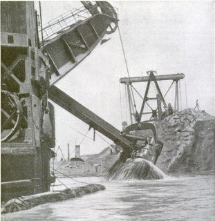 Cutting through the Panama Canal, circa 1916.