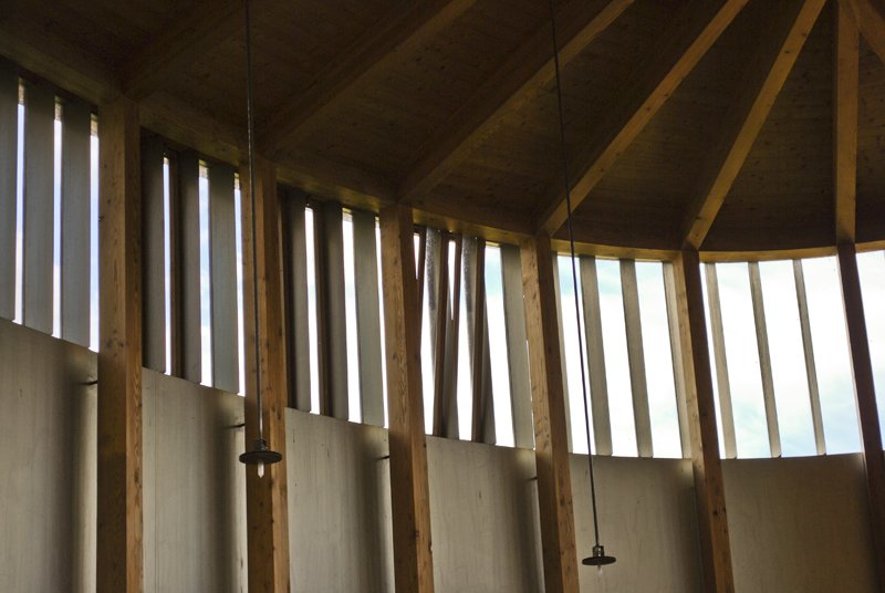 Before Zumthor was an architect, he was a carpenter, and his father was actually a cabinet maker. His attention to woodworking detail - simple, minimal, light - is evident in all of the construction connections in the chapel.  A Pilgrimage to Zumthor's Chapel by Tiffany Chu