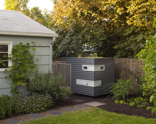 """The coop grew out of the garden. """"We were so excited to have a yard,"""" Snyder recalls. Martin started growing a vegetable bed and soon a friend and owner of Naomi's Organic Farm Supply suggested hens. """"She got us excited about having chickens as an extension of our garden,"""" Snyder says."""