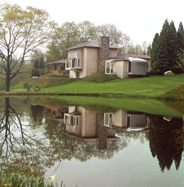 """The concept is similar to a chateau in the Loire Valley,"" Platner said of his own house in Guilford, Connecticut."