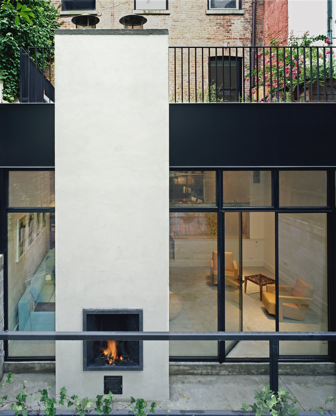 Exterior  97+ Modern Fireplace Ideas by Dwell from Soho Row House Renovation
