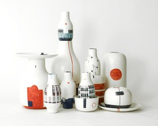 The Youngest Guns Contest - Photo 3 of 52 - Renée Rossouw, a postgraduate masters student at the European Design Labs in Madrid, created this ceramic set in collaboration with Bosa Ceramics as part of her final project.