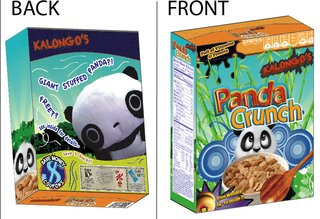 The Youngest Guns Contest - Photo 9 of 52 - Panda Crunch, a cereal box design created by Montclair State University graphic design student Samuel Saez.