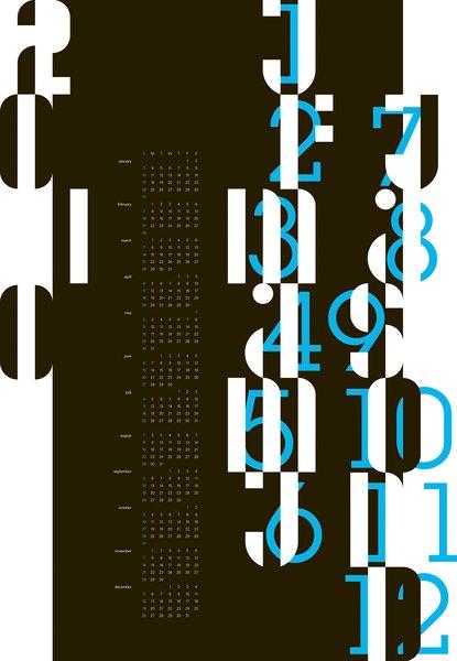 Fall Calendar, 2009, by University of Georgia graphic design student Soo Hyung Kim.