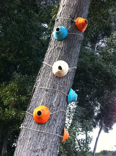 Humming Bird Hide-Away, sculpture installation created by Diablo Valley College student Christina Jirachachavalwong.