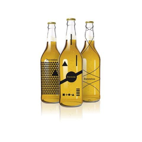 Bottle design by Thorleifur Gunnar Gíslason, a graphic design student at the Iceland Academy of the Arts.