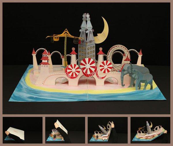 Maggie Lee, an industrial design student at Pratt, designed a pop-up book of Luna Park in Coney Island, circa 1907