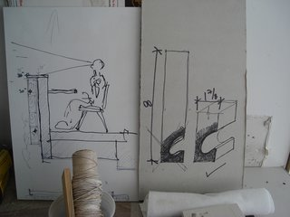 How to Work With an Architect - Photo 5 of 5 - In this project, the architects worked closely with the general contractor MW Construction to refine the details on site, often sketching on pieces of leftover sheetrock.