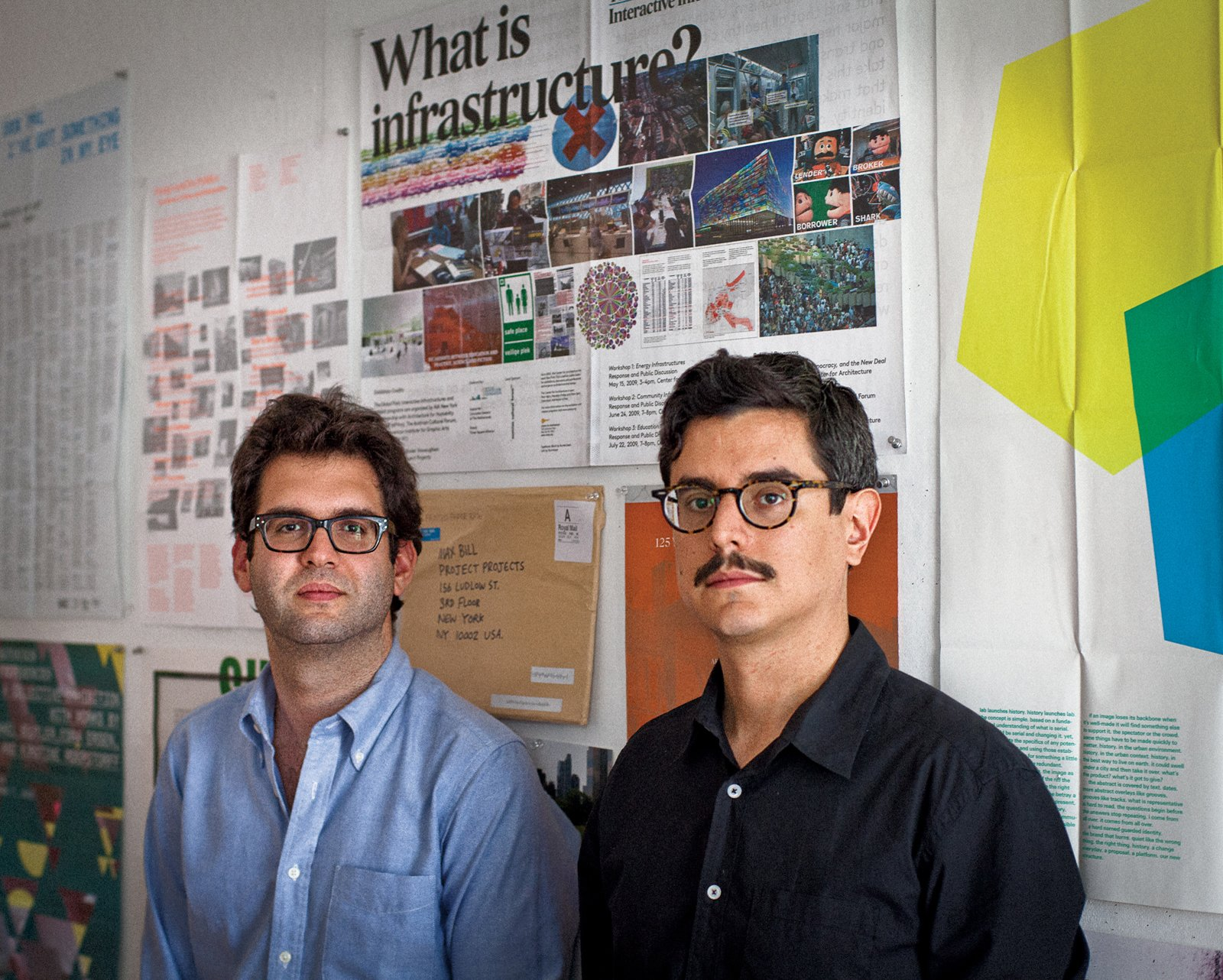 Project Projects is helmed by Rob Giampietro (on left), Adam Michaels (on right), and Prem Krishnamurthy (not pictured).  Graphic Designers We Love by Aaron Britt from Graphic Design: Project Projects